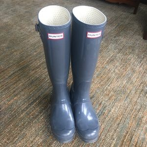 Tall Original Gray Hunter High Gloss Boots